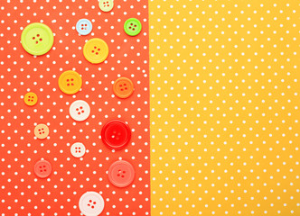 Buttons with colorful topped background