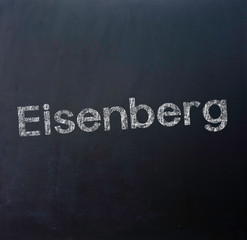 Eisenberg Stadt Tafel Schriftzug
