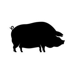 Pork meat label on white background. Design element for logo, label, emblem, sign. Vector illustration