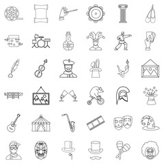 Show icons set, outline style