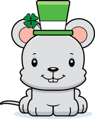 Cartoon Smiling Irish Mouse