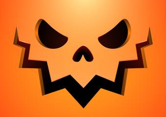 Vector drawing, Halloween pumpkin lamp, Jack