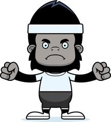 Cartoon Angry Fitness Gorilla