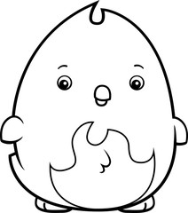 Cartoon Baby Phoenix