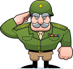 Poster Superheroes Cartoon Military General Salute