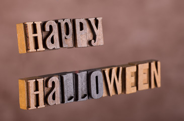 Happy Halloween Banner on an Abstract Background