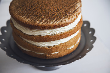 Delicious Cake with Cream