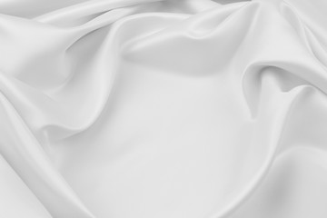 White silk fabric texture