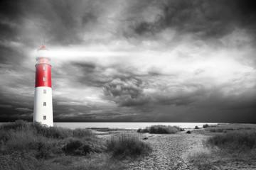 Garden Poster Lighthouse Leuchtturm beim stürmischen Wetter