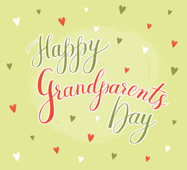 Vector greeting card Happy Grandparent Day
