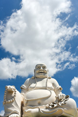 Happy Buddha in Vinh Thrang pagoda, My Tho Mekong delta