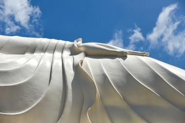 Reclined Buddha in Vinh Thrang pagoda, My Tho Mekong delta