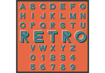 Retro Style Alphabet Set 1