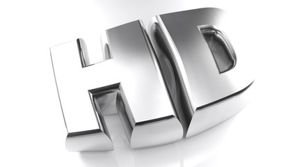 HD - High Definition in chromed letters