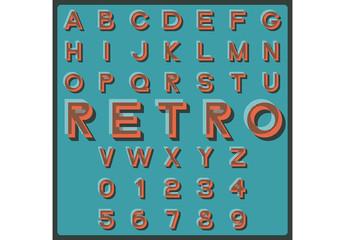 Retro Style Alphabet Set 2