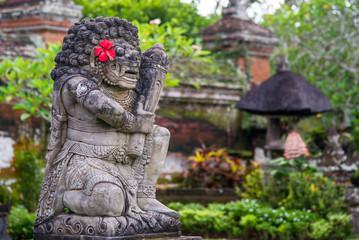 Kamienna rzeźba na Bali w Indonezji