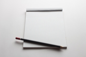 Empty notepad and  pen