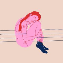 Entangled Woman
