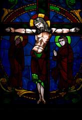 Vitral de Jesucristo en el Cementerio de la Recoleta