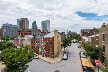 Little Italy Area in Baltimore, Maryland during Summer