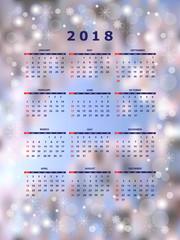 New year calendar year 2018
