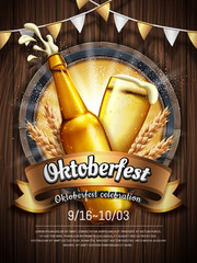 Attractive oktoberfest celebration