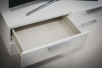 Fototapeta White drawer open obraz