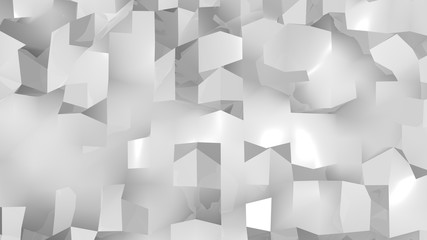 Abstract Geometric Background. Digital backdrop. 3d render