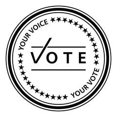 Vote stamp. Vote rubber stamp. Vector Vote stamp. Vote Grunge stamp. Roter stempel. Election badges and labels