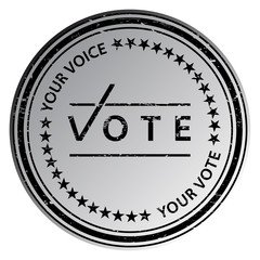 Vote stamp. Vote rubber stamp. Vector Vote stamp. Vote Grunge stamp. Roter stempel. Election badges and labels