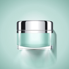 Aquamarine cosmetic jar