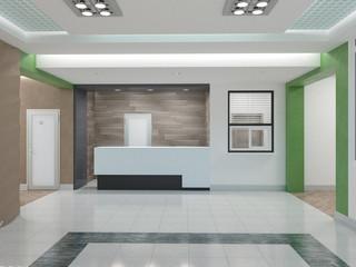 Public interior  3D rendering.