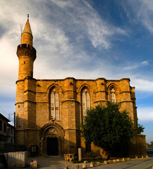 Exterior view to Haydarpasa Cami mosque at Lefcosa, Cyprus