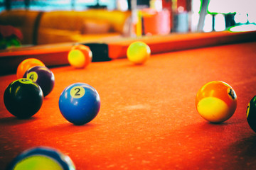 old pool table