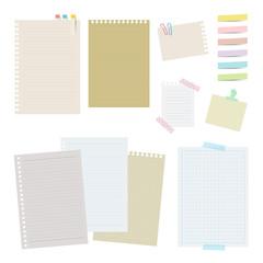紙と付箋セット / vector eps 10