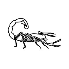 Scorpion black color icon .