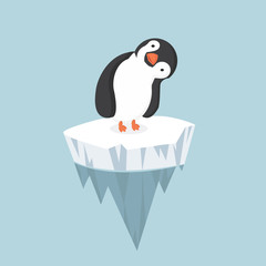 penguin with ice floe