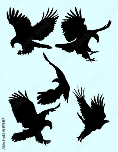 The Eagle Silhouette Set Good Use For Symbol Logo Web Icon