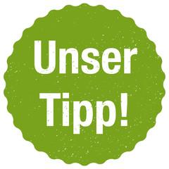 Unser Tipp! - Sticker- Vektor - grün