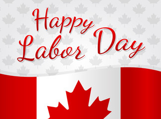 Canadian Labor Day - concept of banner. Vector.
