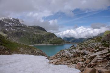 Gletscher vor einem Gipfel