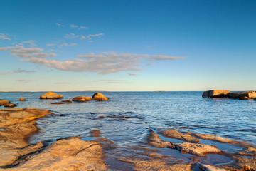 Rocky Baltic Sea in Sweden