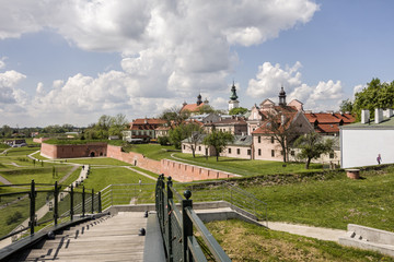 Zamosc - Renaissance city in Central Europe. Fortifications around the old town.