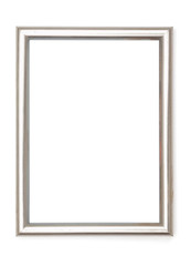 Picture Frames Series, isolated on White Background Cut-Out: aluminium Grey Metal