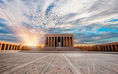 Foto op Canvas Monument Anitkabir - Mausoleum of Ataturk, Ankara Turkey