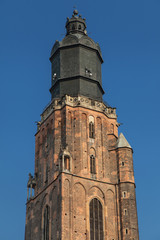 Top of the St Elizabeth Church Tower in Wroclaw