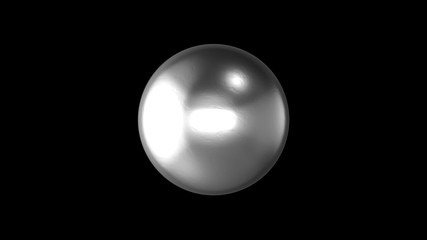 Abstract background with realistic ball. 3d render