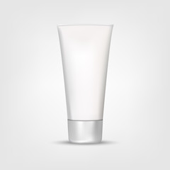 Mock Up Tube Of Cream Or Gel Grayscale in a realistic style isolated on a white background