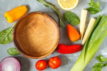 Ingredients for vegetable salad.