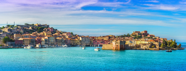 Wall Mural - Old town and harbor Portoferraio, Elba island, Italy.